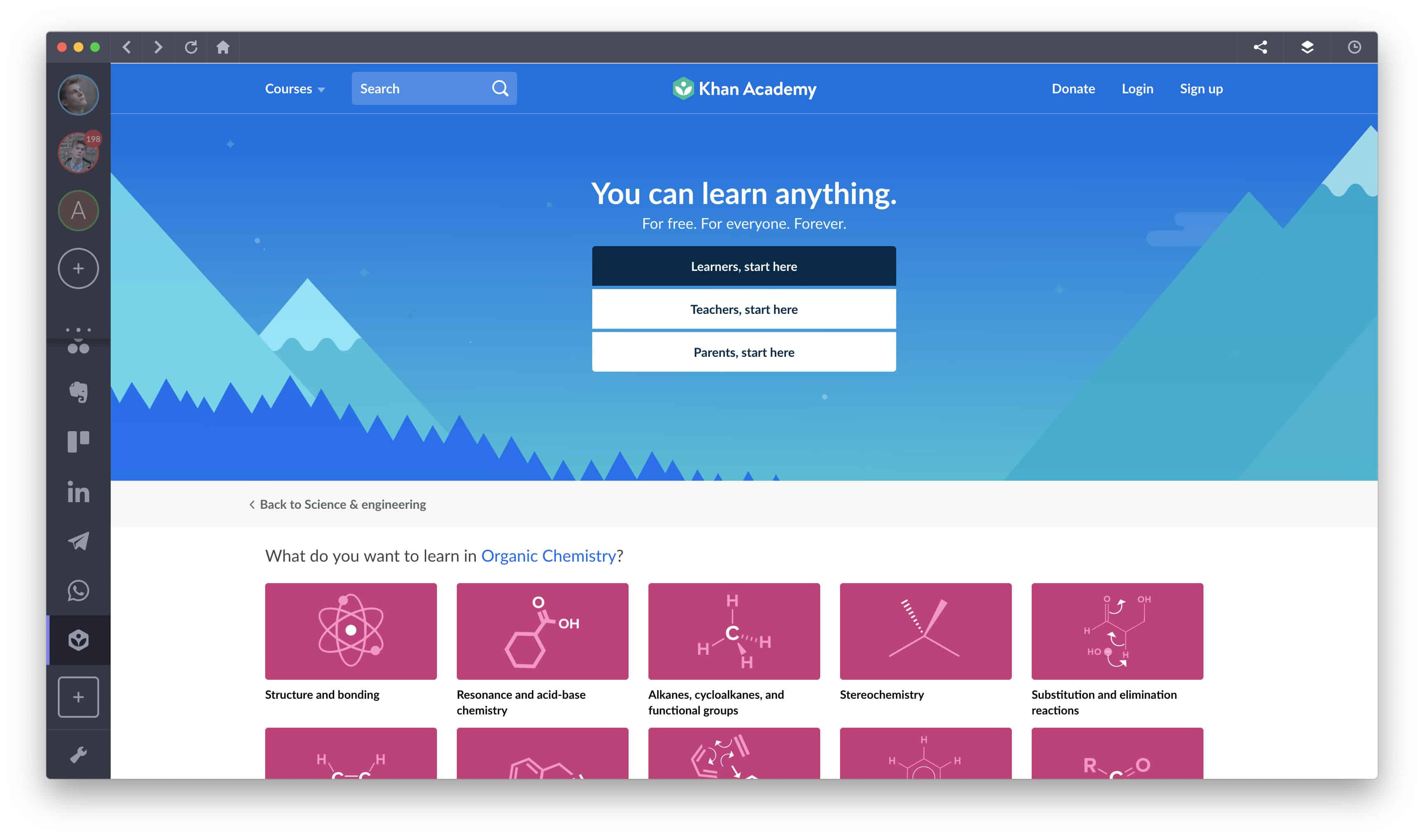 khan academy e-learning