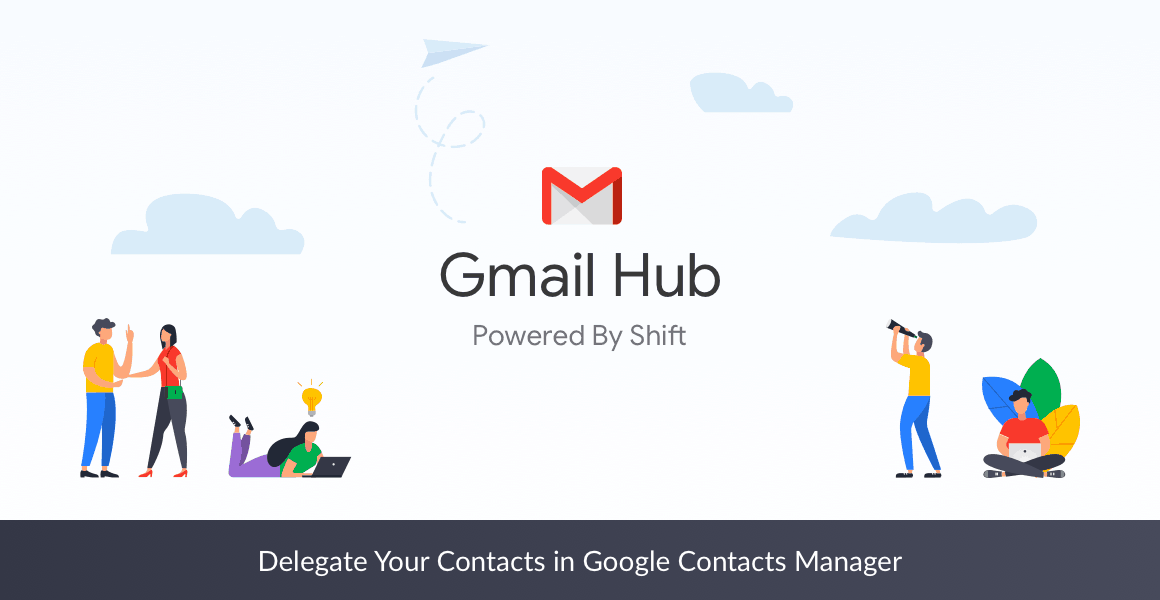 delegate contacts with google contacts manager