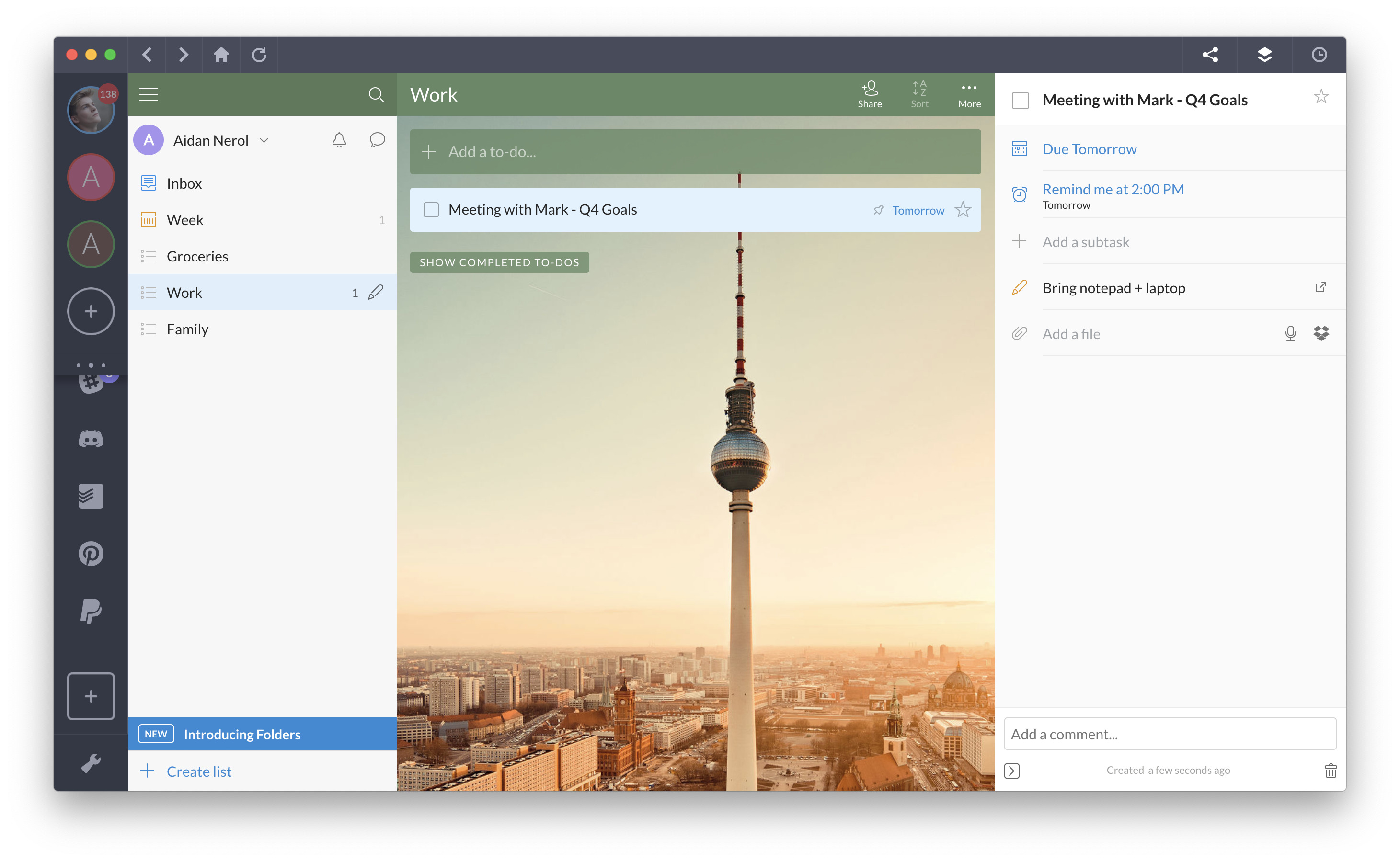 best to do list app 2019 - wunderlist
