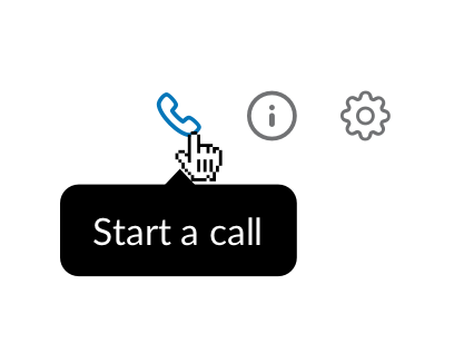 Slack Tips #1: start calls in slack and use the screen sharing session.