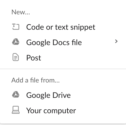 Slack Tip: share documents with your team.